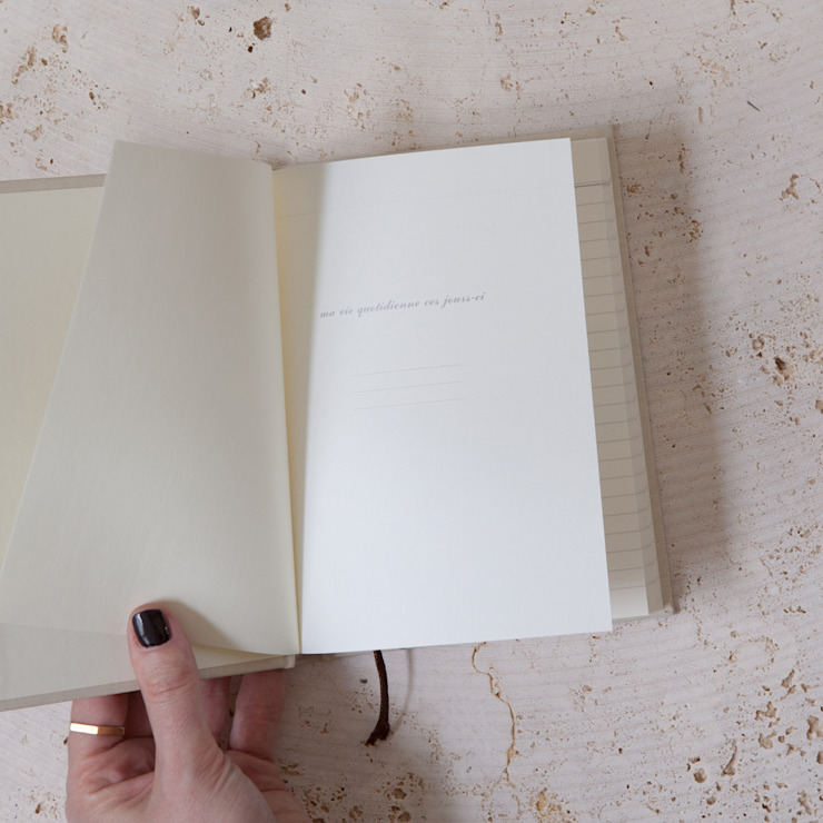 Lined gilt & cream hardback notebook: minimalist  by Fate London, Minimalist