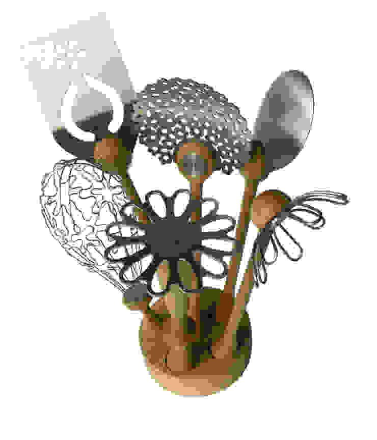 Wild Flower Utensil Set: eclectic  by bojje ltd, Eclectic