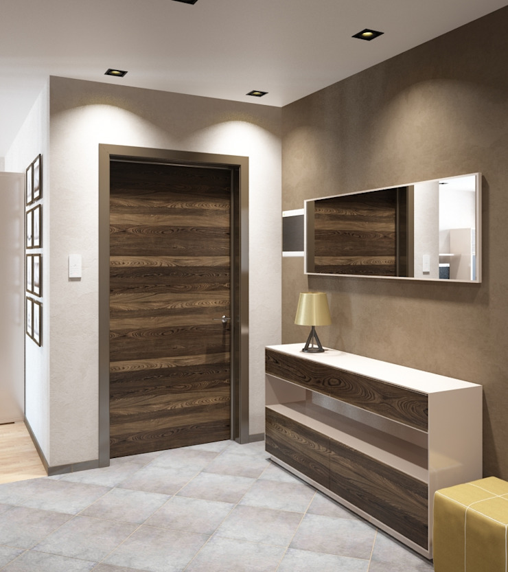Pasillos, vestíbulos y escaleras de estilo moderno de Студия дизайна 'New Art' Moderno