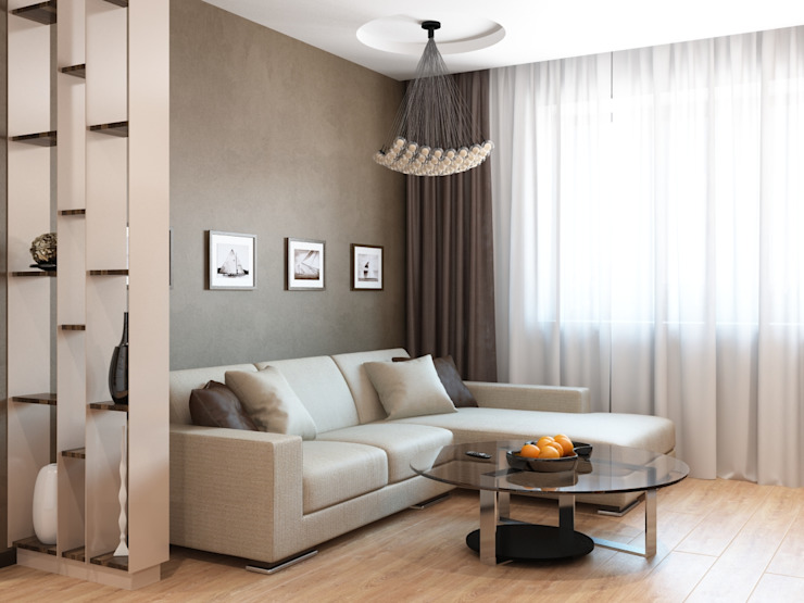 Modern Oturma Odası Студия дизайна 'New Art' Modern