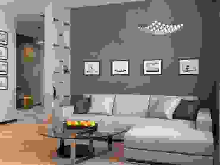 Современная квартира Гостиная в стиле модерн от Студия дизайна 'New Art' Модерн