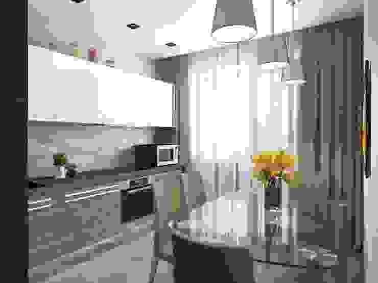 Cocinas de estilo moderno de Студия дизайна 'New Art' Moderno