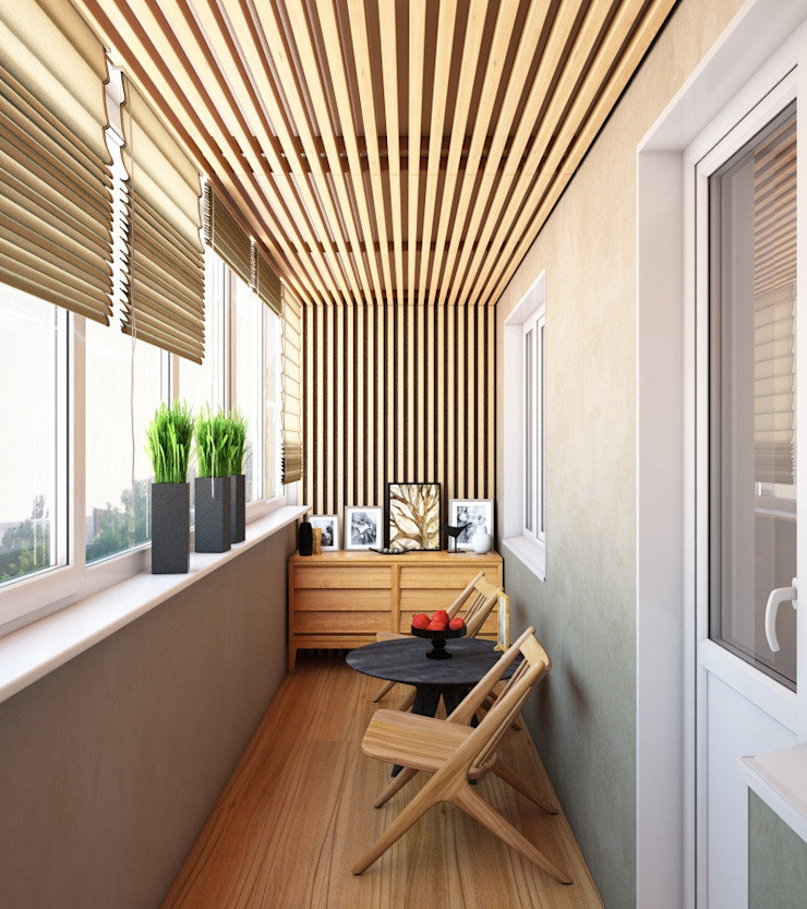 Современная квартира Балкон и терраса в стиле модерн от Студия дизайна 'New Art' Модерн
