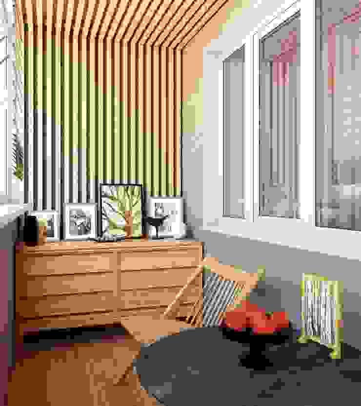 Balcones y terrazas de estilo moderno de Студия дизайна 'New Art' Moderno