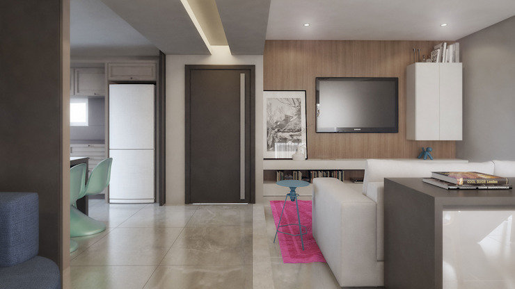 COBERTURA MA Salas de estar modernas por AF Arquitetura Moderno