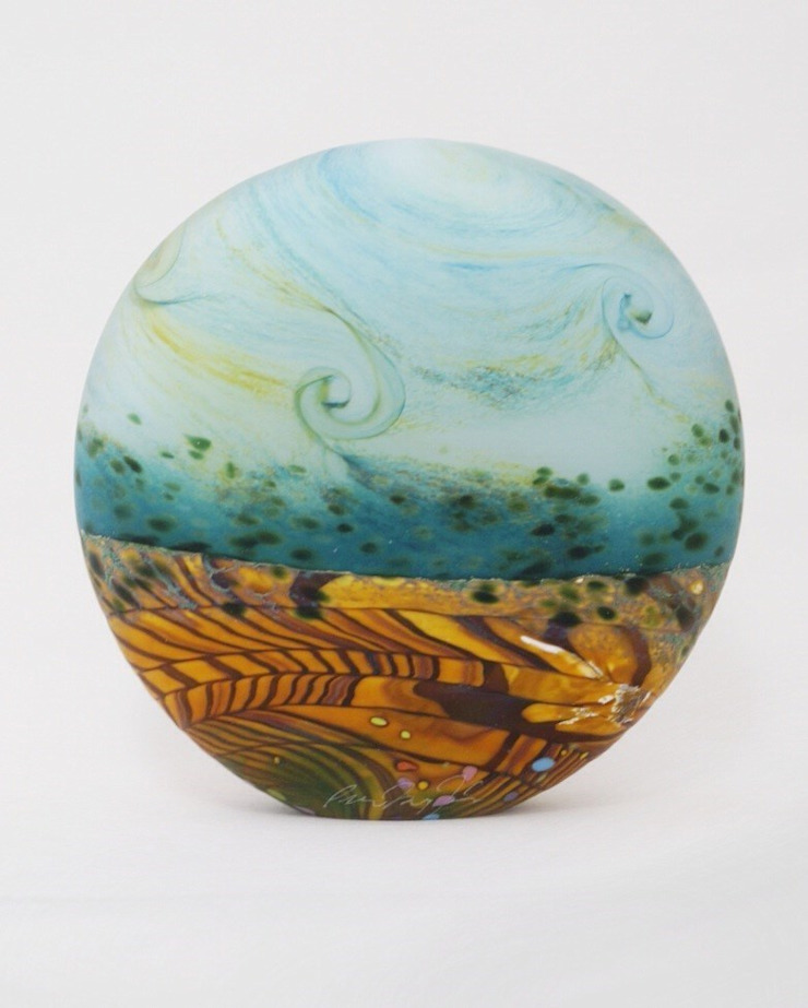 Wheatfield Small Stoneform by Peter Layton at Riverside Art and Glass.: modern  by Riverside Art and Glass, Contemporary Gallery, Modern