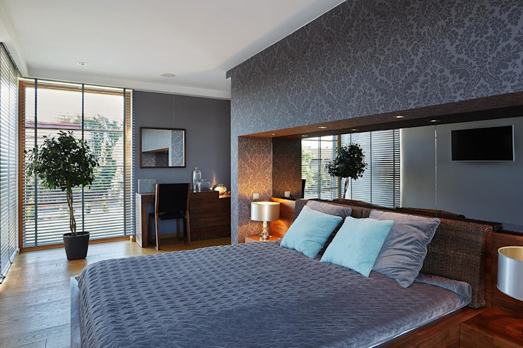ARCHiPUNKTURA .architekci detalu Dormitorios de estilo moderno