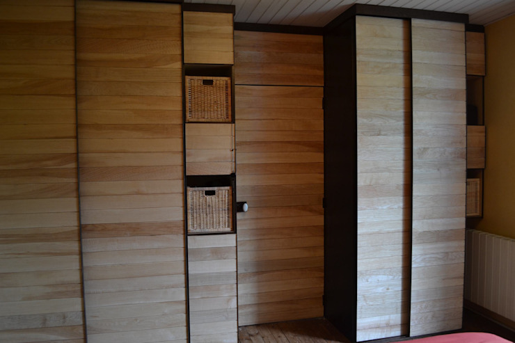 Aménagement de placards aux portes coulissantes par Anaïs Martin
