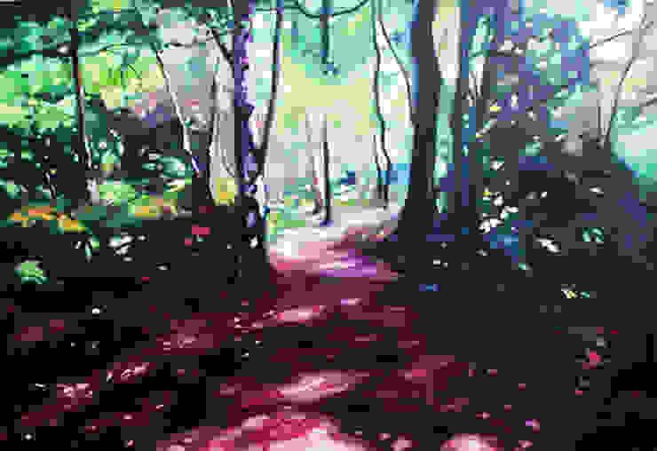 'Woodland Walk' by Helen Shepherd at Riverside Art and Glass.: modern  by Riverside Art and Glass, Contemporary Gallery, Modern