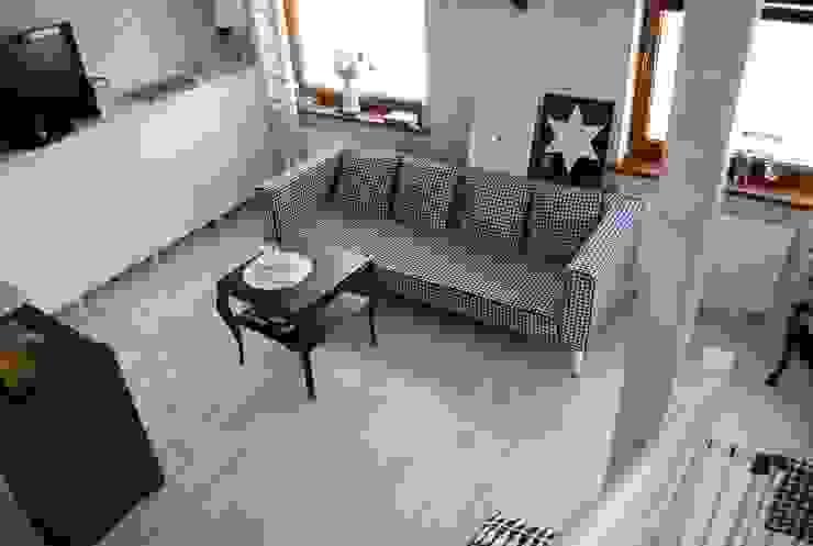 wnętrza Skandynawski salon od PIANZU Skandynawski