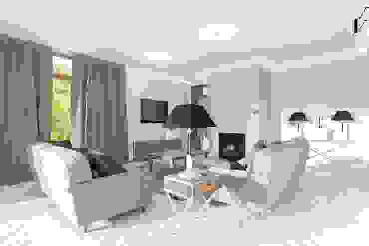 Phòng khách phong cách Bắc Âu bởi Mocca Studio Bắc Âu