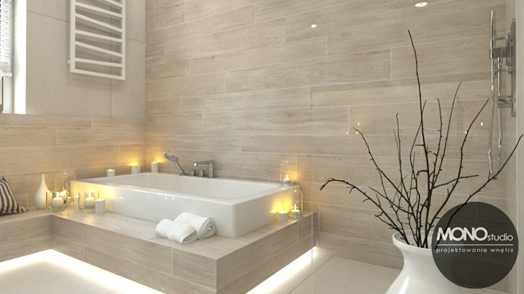 Salle de bain moderne par MONOstudio Moderne
