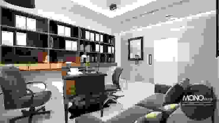 Oficinas y bibliotecas de estilo moderno de MONOstudio Moderno
