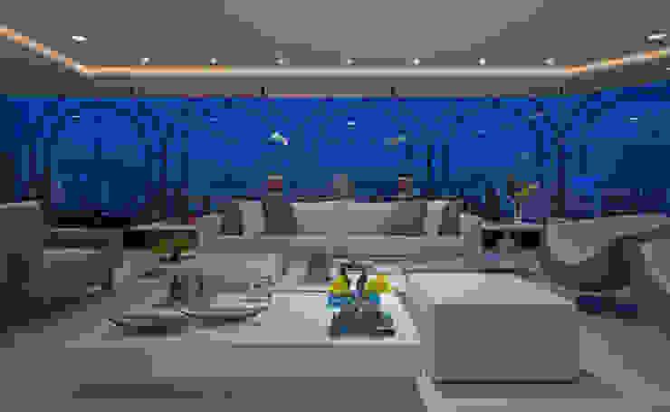 Apartamento Casal com filhos Salas de estar modernas por Jóia Bergamo - Arquitetura e Design de Interiores Moderno