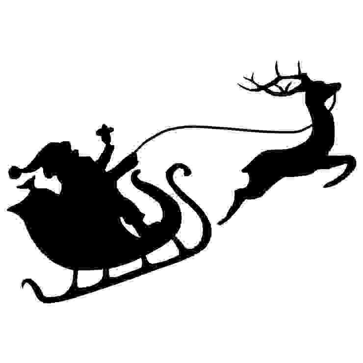Weihnachtsmann mit Rentier: modern  von Denoda,Modern