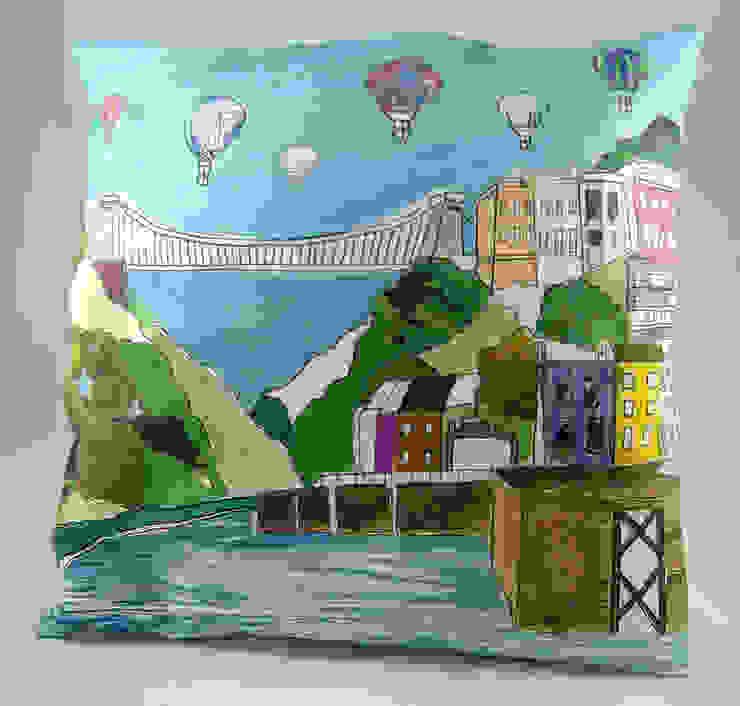 Clifton Balloons Cushion: modern  by Emmeline Simpson, Modern