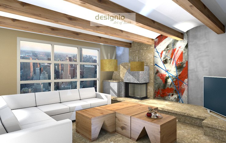 Modern Living Room by Art of Bath Modern