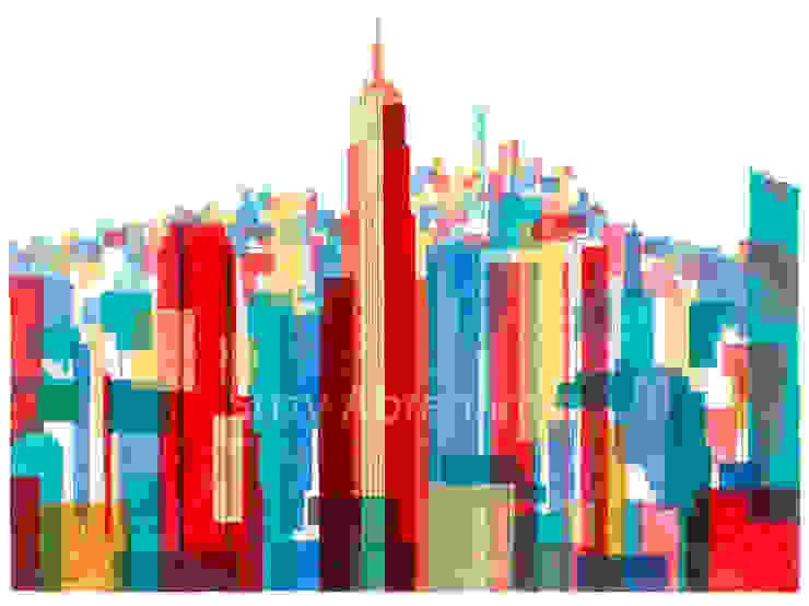 Manhattan Impressions No.1: modern  by Suzy Abrahams, Modern