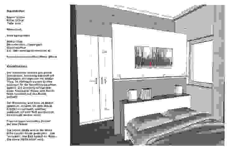 Schlafzimmer Wohnung P. | Betthaupt als Raumteiler Moderne Schlafzimmer von Innenarchitektur | Ina Nimmrichter Modern