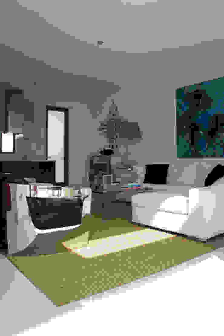 Apartamento Ibiza Salones de estilo mediterráneo de Isa de Luca Mediterráneo