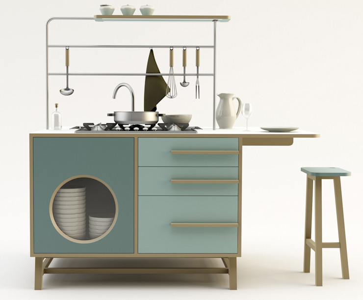 Monoblocco Happy Kitchen_Design Mood:  in stile industriale di Design Mood, Industrial
