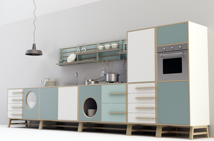 Happy Kitchen_Design Mood:  in stile industriale di Design Mood, Industrial