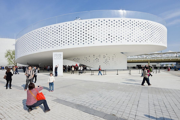 EXPO 2010 DANISH PAVILION Modern exhibition centres by BIG-BJARKE INGELS GROUP Modern