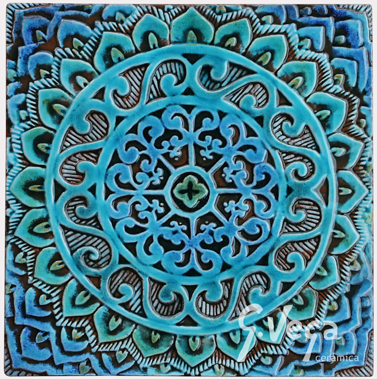 Mandala #1 by Gvega Ceramica