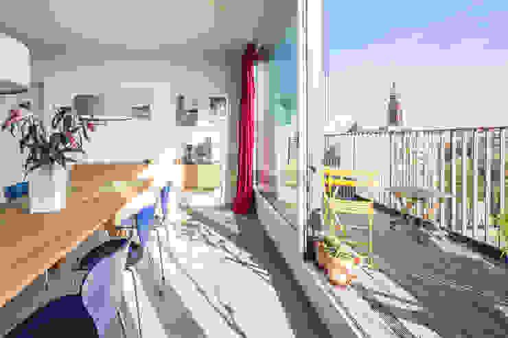 CHO 58 Stadthaus Balkon, Veranda & Terrasse von ZOOMARCHITEKTEN