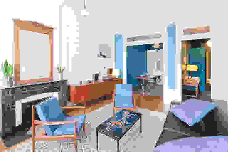 Appartement Lyon 04 Salon moderne par Tymeno Moderne