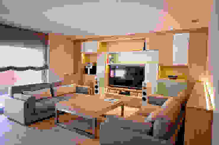 Sala de estar Casas de estilo moderno de Romina Gris Moderno