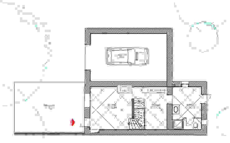 Nhà để xe/nhà kho phong cách tối giản bởi Agence Mursmurs Tối giản