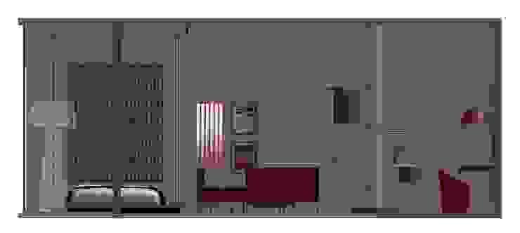 ARREDAMENTO MONOLOCALE SULLE RIVE DEL LAGO DI COMO Cucina moderna di STUDIO ARCHITETTURA-Designer1995 Moderno