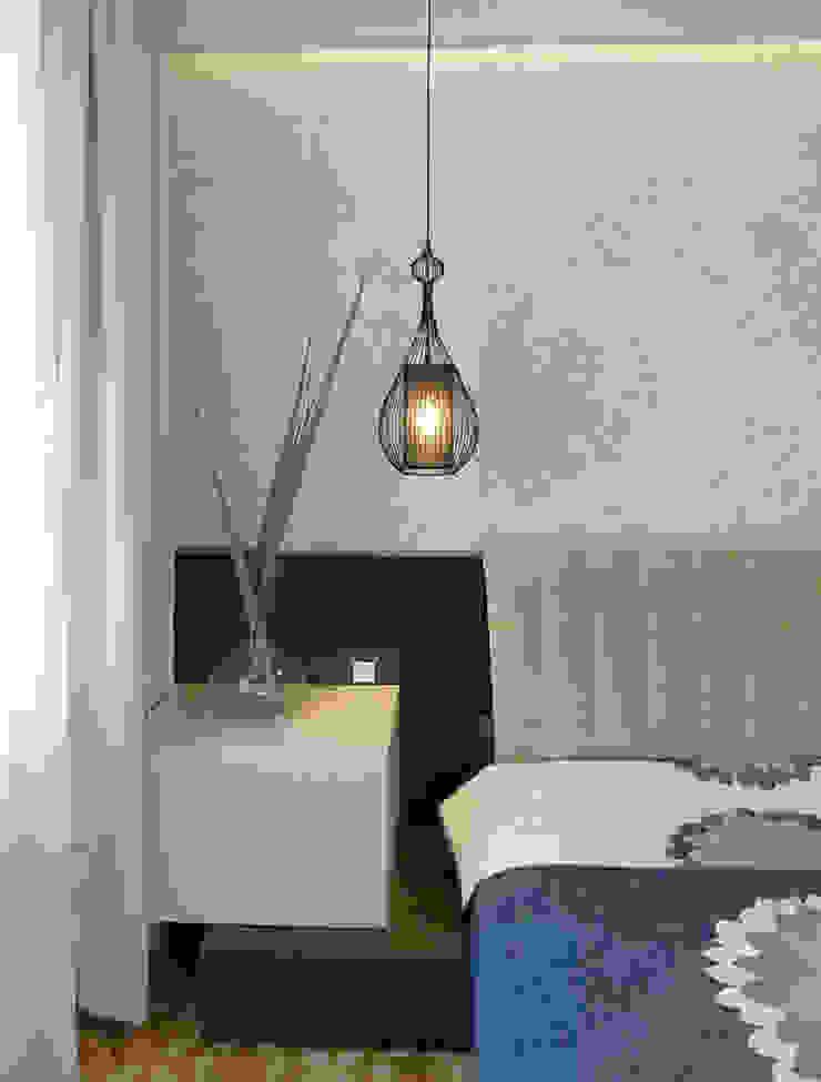 Mieszkanie po generalnym remoncie Egzotyczna sypialnia od DO DIZAJN Dorota Szczygłowska Egzotyczny