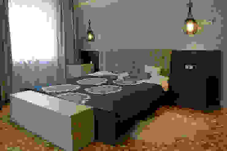 Mieszkanie po generalnym remoncie Eklektyczna sypialnia od DO DIZAJN Dorota Szczygłowska Eklektyczny