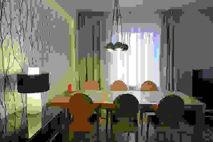 Mieszkanie po generalnym remoncie Eklektyczna jadalnia od DO DIZAJN Dorota Szczygłowska Eklektyczny