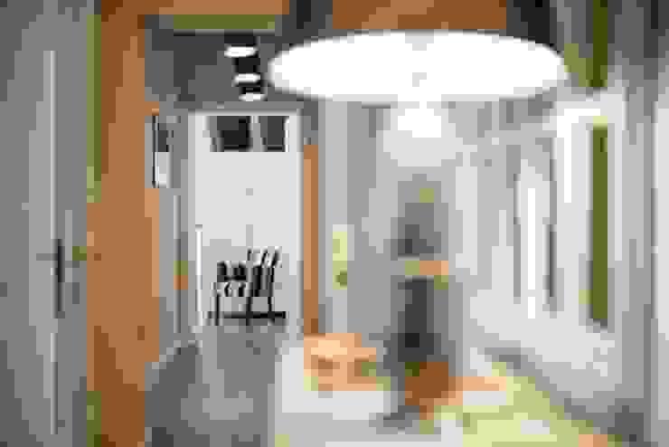 VOLTURNO Ingresso, Corridoio & Scale in stile moderno di MOB ARCHITECTS Moderno