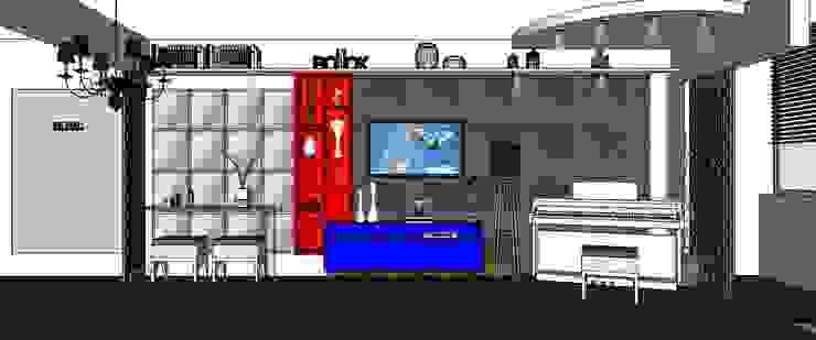 Living Painel tv por Cristiano Carvalho Arquitetura e Design Moderno