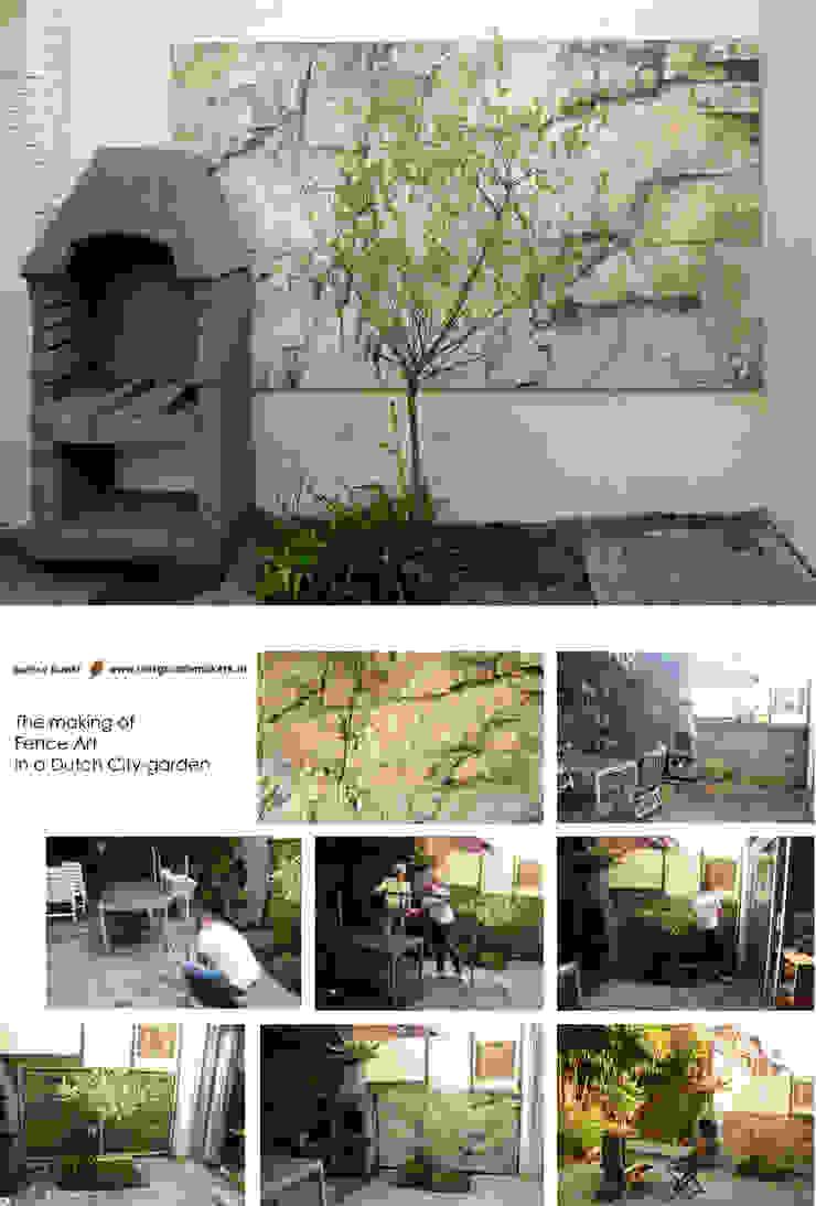 Schuttingfoto Moderne tuinen van Aardse Kunst Modern