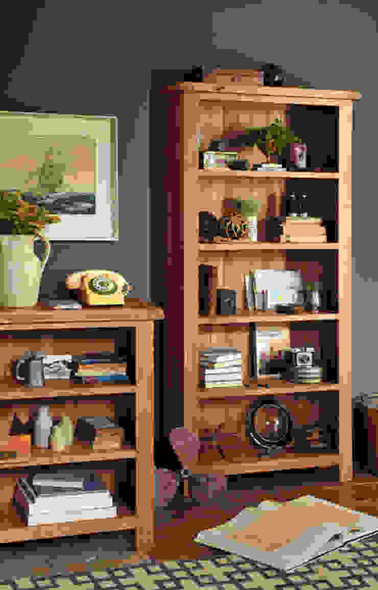 Lyon Oak Large Bookcase 5 Shelves de The Cotswold Company Rural