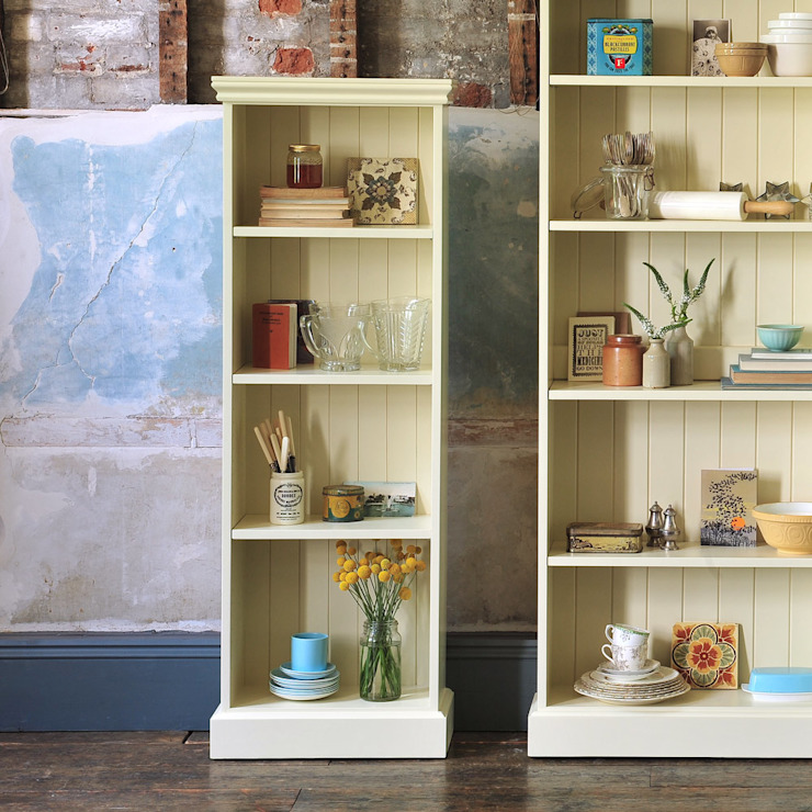 Bourton Painted Extra Narrow Bookcase (5ft): country  by The Cotswold Company, Country