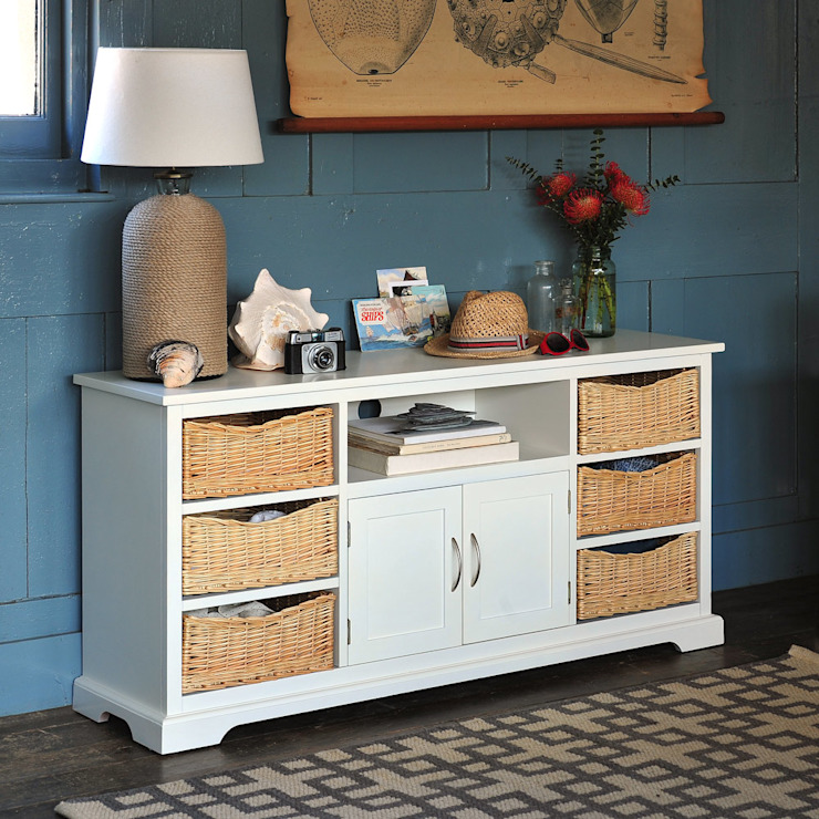 """Farmhouse Ivory TV Unit Up To 62"""" de The Cotswold Company Rural"""
