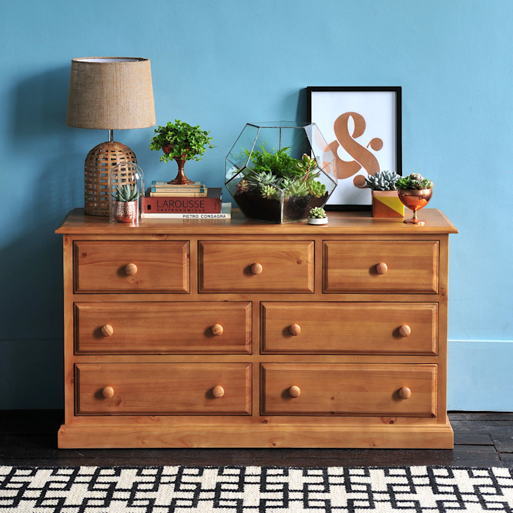 Langley Pine 3+4 Chest of Drawers de The Cotswold Company Rural