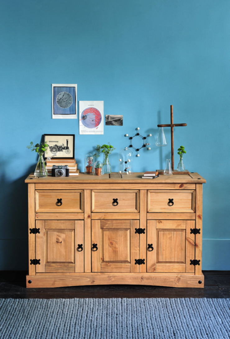 Corona Mexican Solid Pine Large 3 Door Sideboard de The Cotswold Company Rural