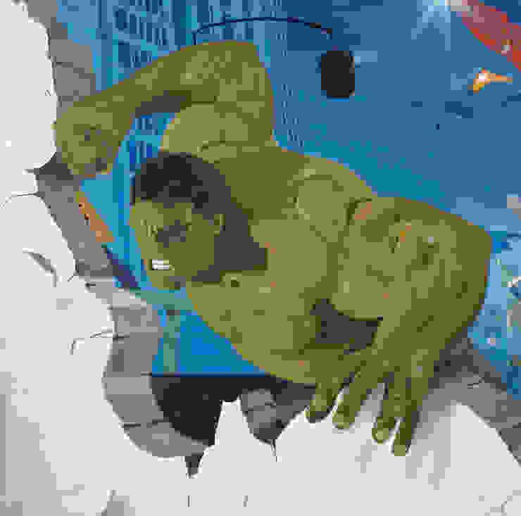 Hulk Chambre d'enfant originale par Dave Baranes Éclectique