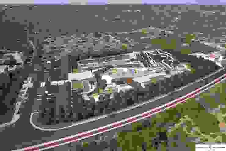 Aerial view FG ARQUITECTES Modern pool