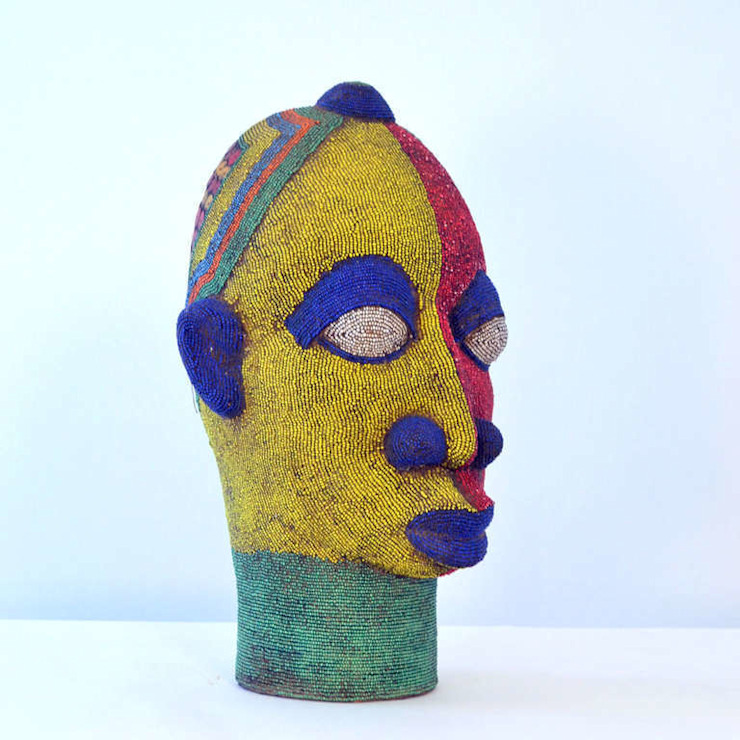 Large Female Beaded Sculpture by The Moderns