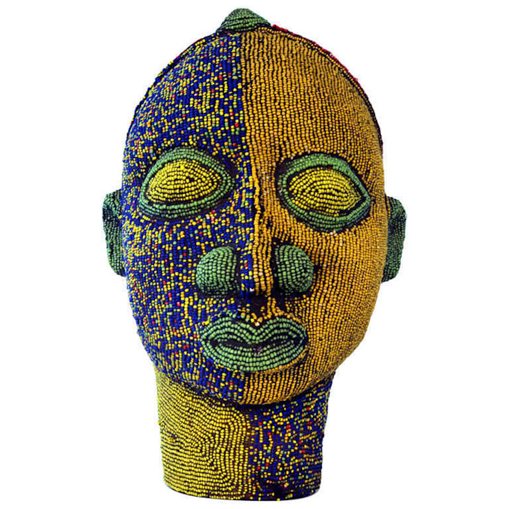 ​Nigerian Male Beaded Head by The Moderns