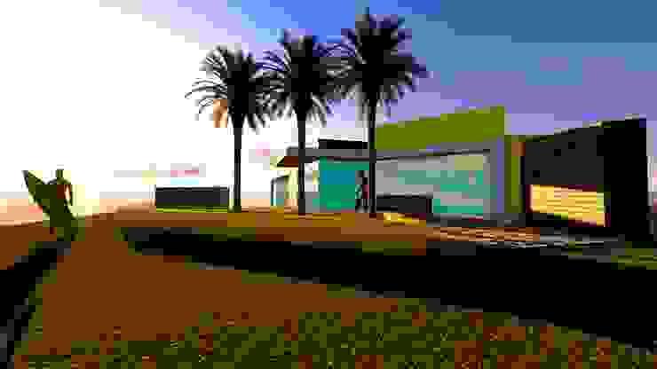 Casa vista al mar Jardines modernos de MLarq Arquitectura y Construcciòn Moderno