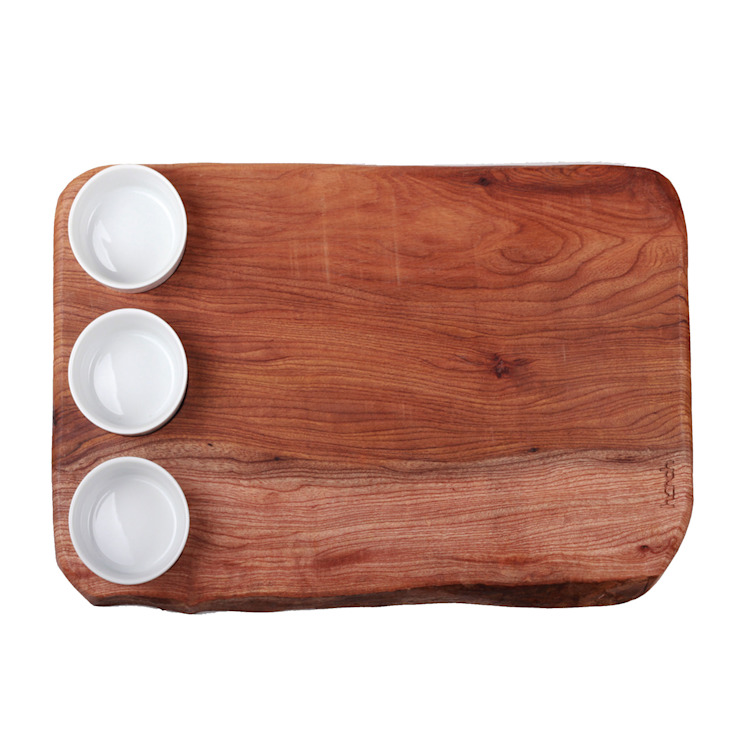 Harch Waney Edge Board with Dipping Pots: eclectic  by Harch Wood Couture, Eclectic